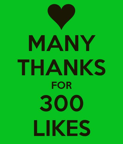 many-thanks-for-300-likes